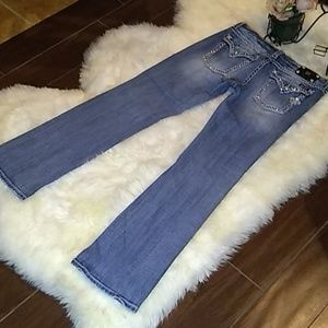 """Miss Me Jeans Size 33/35"""" Boot Cut Mid"""
